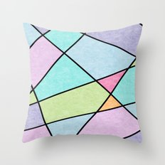 Frosted Pastel Throw Pillow