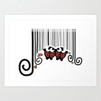 Ladybug's barcode Art Print