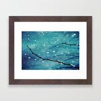 Winter Snow Branches  Framed Art Print