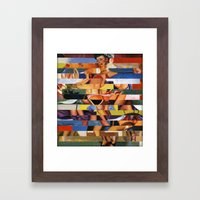 Glitch Pin-Up Redux: Mad… Framed Art Print