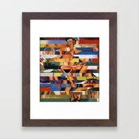Glitch Pin-Up Redux: Madison Framed Art Print