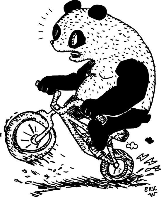 Dirt Jump Panda Art Print