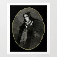 Art Print featuring Frankenstein's Monster by Abigail Larson