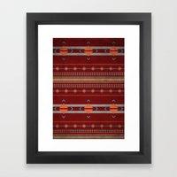 Efinity Pattern Red Framed Art Print