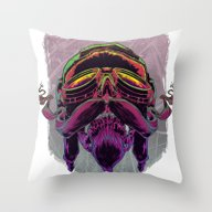Throw Pillow featuring Air Fighter by Reggalado