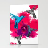 Pink hum orchid explosion  Stationery Cards