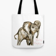 Baby Elephant Pink Tote Bag
