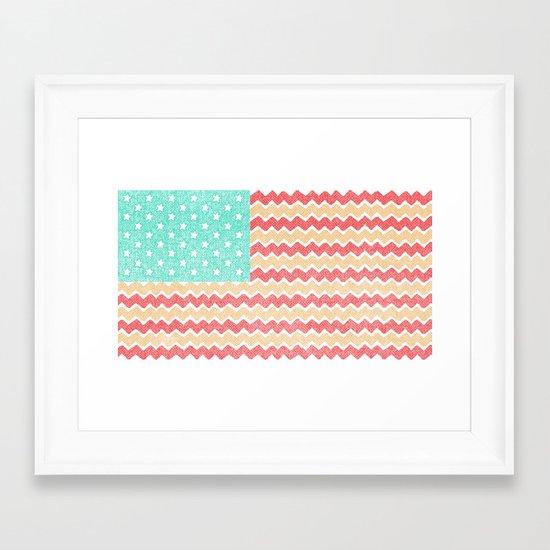 Zig Zag Flag. Framed Art Print