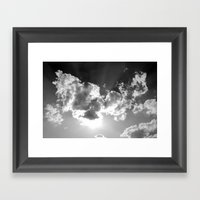Dark Above Framed Art Print