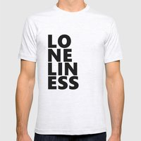 Loneliness Mens Fitted Tee Ash Grey SMALL