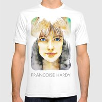 Francoise Hardy Mens Fitted Tee White SMALL