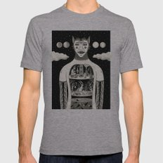 Under Skin Mens Fitted Tee Athletic Grey SMALL