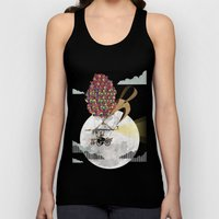Flying Bicycle Unisex Tank Top