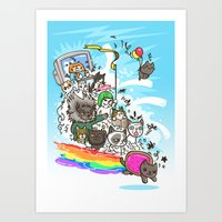 Release The Cats Art Print