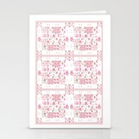 Shabby Chic Dream Catcher and feather Patchwork Stationery Cards