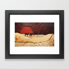 Desert Landscape Marquet… Framed Art Print