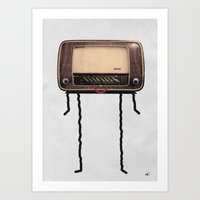Radio-head Art Print