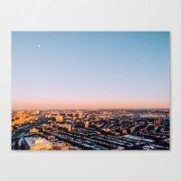 Overlooking Boston Canvas Print