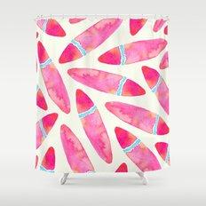 Pink Surf Shower Curtain