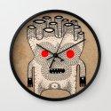 cardboard man Wall Clock