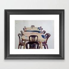 Chairs, Greece Framed Art Print