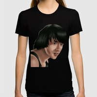 Jackie Chan Womens Fitted Tee Black SMALL