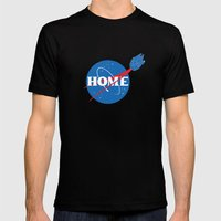 HOME Mens Fitted Tee Black SMALL