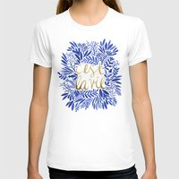french T-shirts featuring That's Life – Gold & Blue by Cat Coquillette