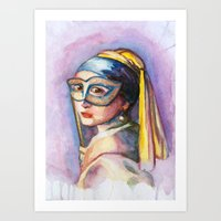 Pearls And Gold Art Print