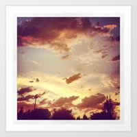 Art Print featuring red clouds by sandra lee russell