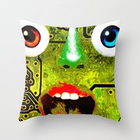 Boxface #1 Throw Pillow