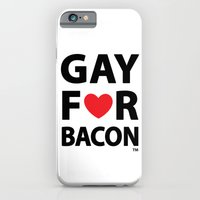 iPhone & iPod Case featuring Gay For Bacon by GayForAmerica