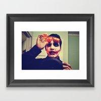 Burning Face Framed Art Print