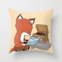 Record Player Throw Pillow