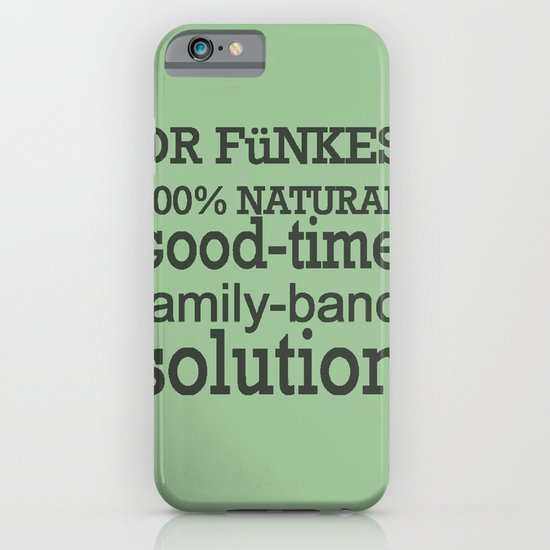 Dr. Funke's 100% natural, good-time family-band solution, 2 iPhone & iPod Case