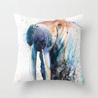 Throw Pillow featuring Walrus by Slaveika Aladjova