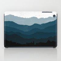 Mists No. 6 - Ombre Blue Ridge Mountains Art Print  iPad Case