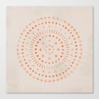 Radial - In Sand Canvas Print