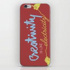 creativity is like electricity iPhone & iPod Skin