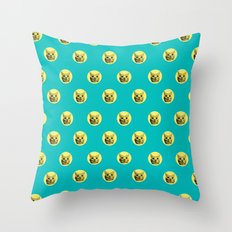 PURRFECT POLKA DOTS Throw Pillow