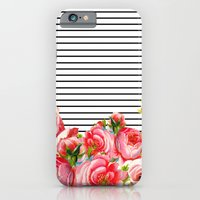 Bold Floral and stripes iPhone 6 Slim Case