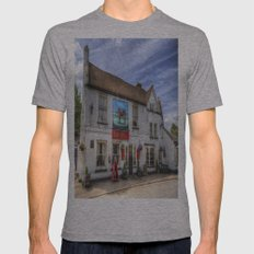 The Bull Pub Theydon Bois Mens Fitted Tee Athletic Grey SMALL