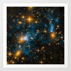 Cosmos 2, When stars collide (enhanced) Art Print