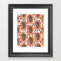 Bold Papayas Framed Art Print