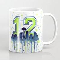 Seahawks 12th Man Fan Ar… Mug