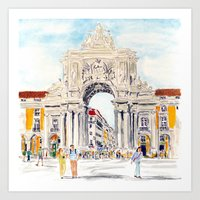 Praça Do Comércio, Lis… Art Print