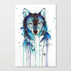-Dark Wolf- Canvas Print