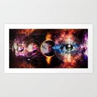 Quantum space Art Print