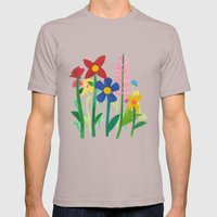 Birthday Flowers Mens Fitted Tee Cinder SMALL