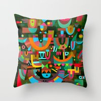 Schema 7 Throw Pillow
